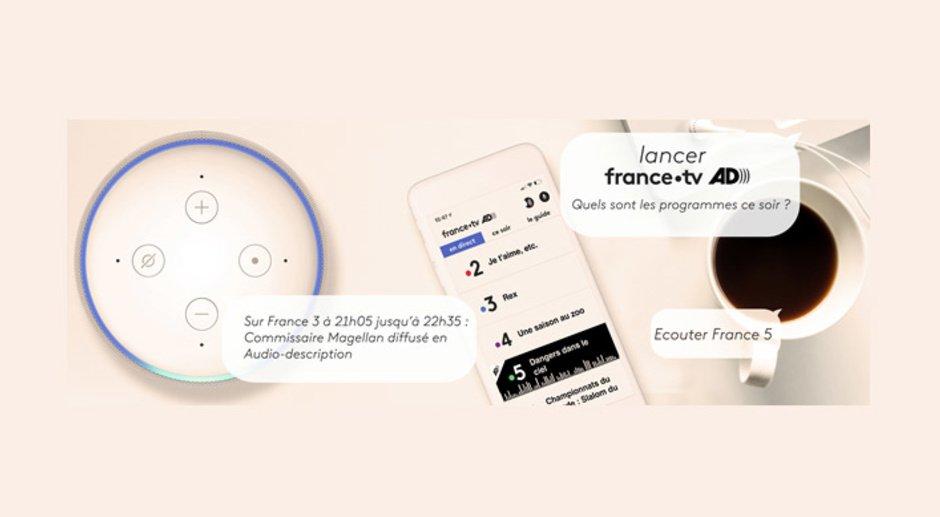 Illustration du lancement de l'audio-description sur enceintes connectées