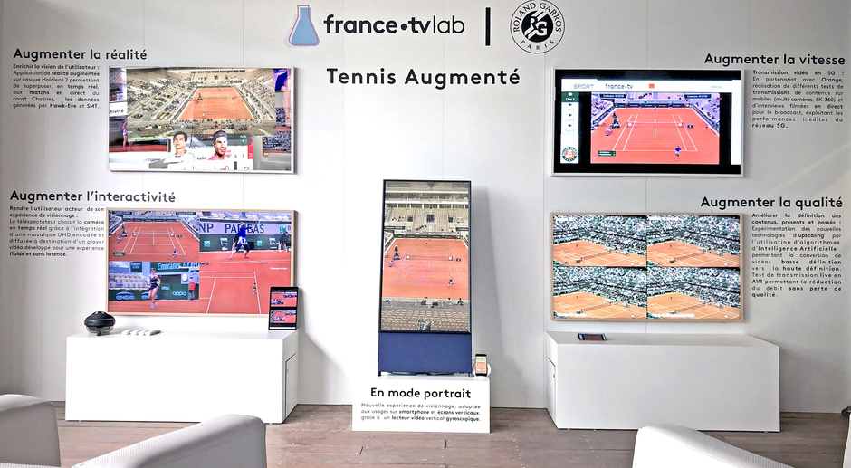 France Télévision stand for the RGLab 2020 at Roland Garros